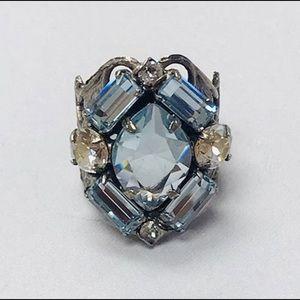 Sorrelli Light Sapphire& Clear Crystal Ring,NWT
